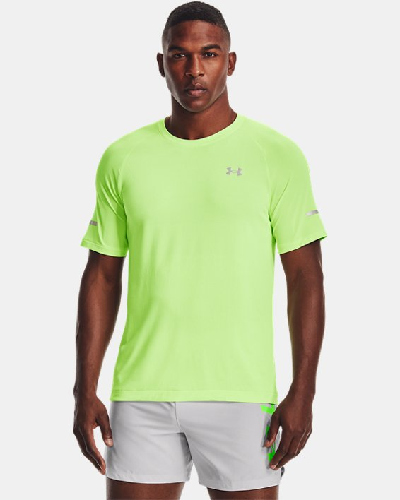 Men's UA Vanish Seamless Run Short Sleeve, Green, pdpMainDesktop image number 0