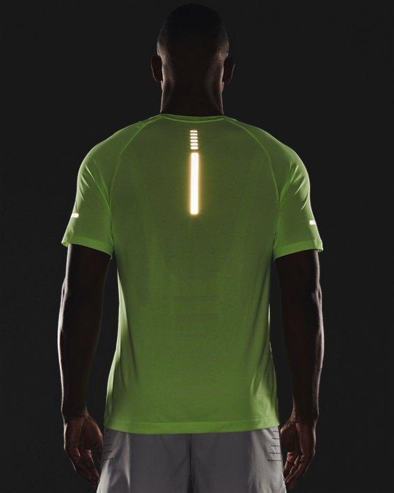 Men's UA Vanish Seamless Run Short Sleeve, Green, pdpMainDesktop image number 3