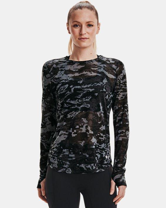 Maglia a manica lunga UA Breeze Run da donna, Black, pdpMainDesktop image number 1
