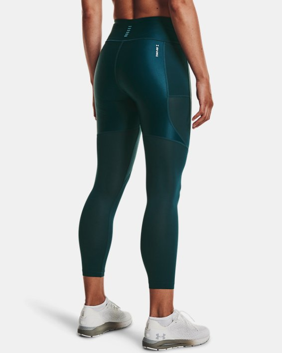Women's UA Iso-Chill Run 7/8 Tights, Blue, pdpMainDesktop image number 2