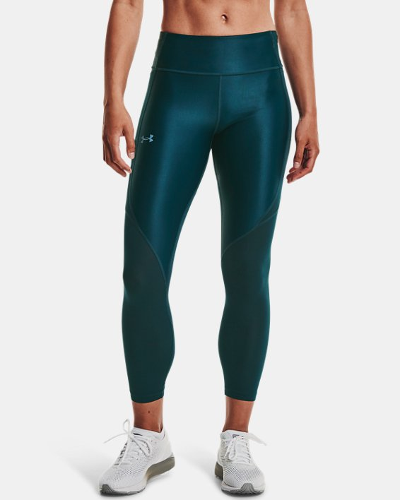 Women's UA Iso-Chill Run 7/8 Tights, Blue, pdpMainDesktop image number 1