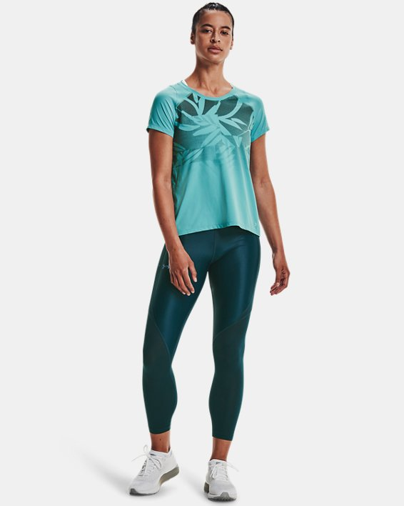 Women's UA Iso-Chill Run 7/8 Tights, Blue, pdpMainDesktop image number 0