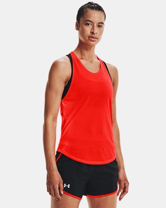 Débardeur UA Streaker Run pour femme, Orange, pdpMainDesktop image number 1