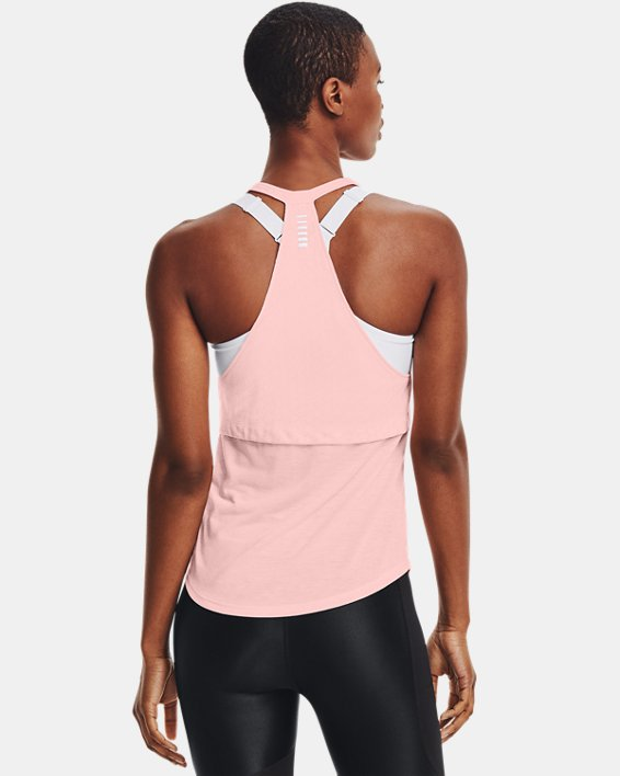 Camiseta sin mangas UA Streaker Runclipse para mujer, Pink, pdpMainDesktop image number 2