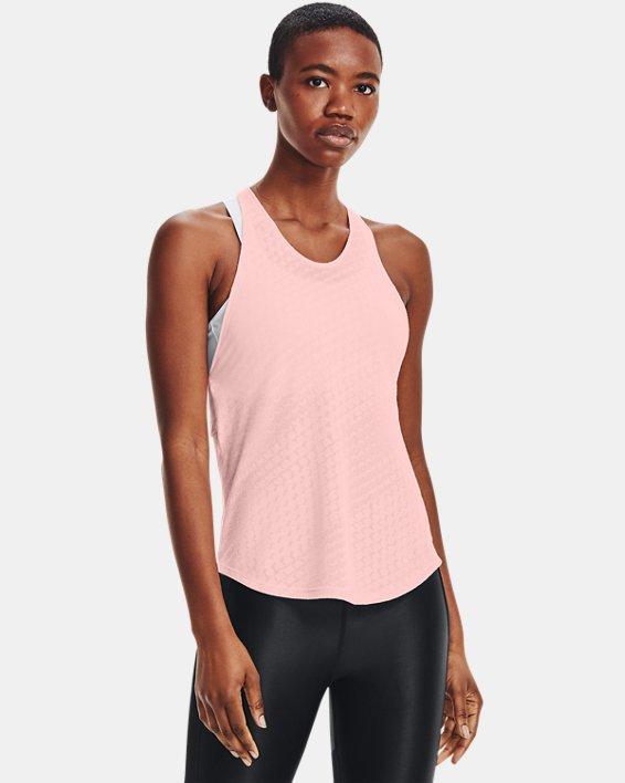 Camiseta sin mangas UA Streaker Runclipse para mujer, Pink, pdpMainDesktop image number 1