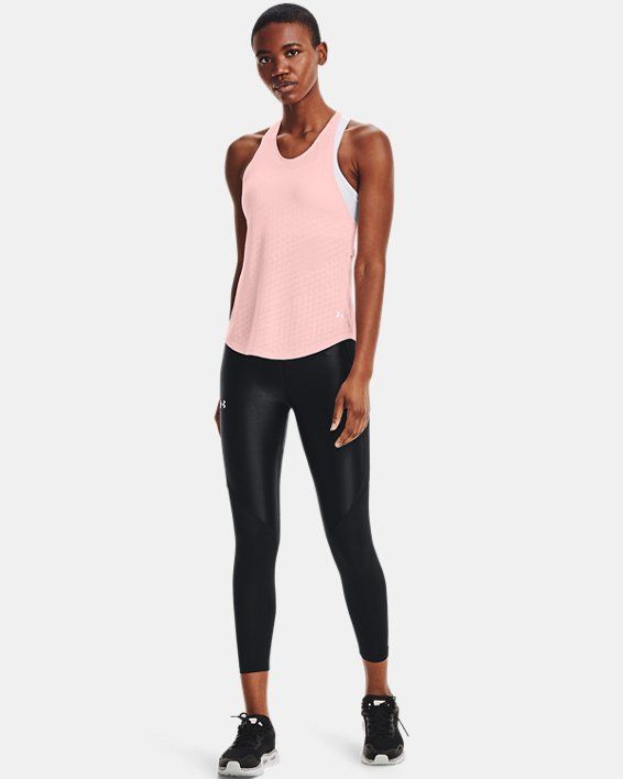 Camiseta sin mangas UA Streaker Runclipse para mujer, Pink, pdpMainDesktop image number 0