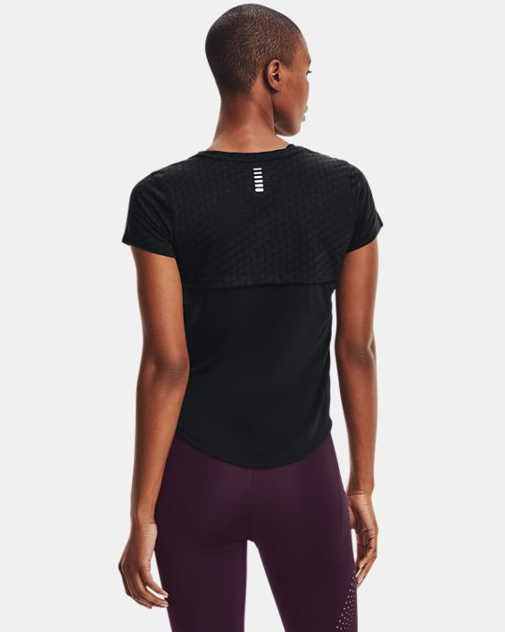 Women's UA Streaker Runclipse Short Sleeve, Black, pdpMainDesktop image number 2