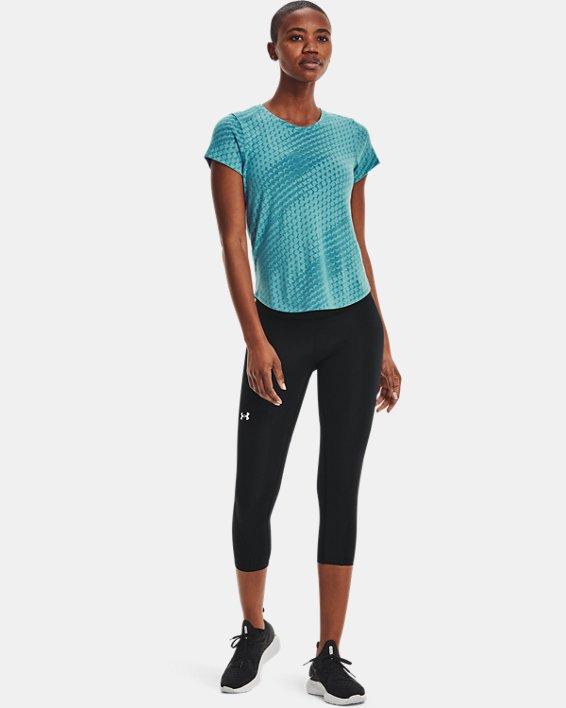 Haut à manches courtes UA Streaker Runclipse pour femme, Blue, pdpMainDesktop image number 0