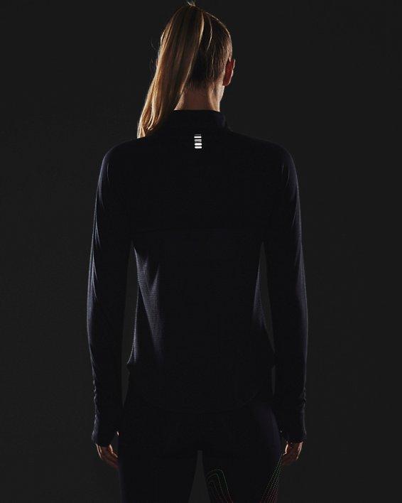 Women's UA Streaker Run ½ Zip, Black, pdpMainDesktop image number 3