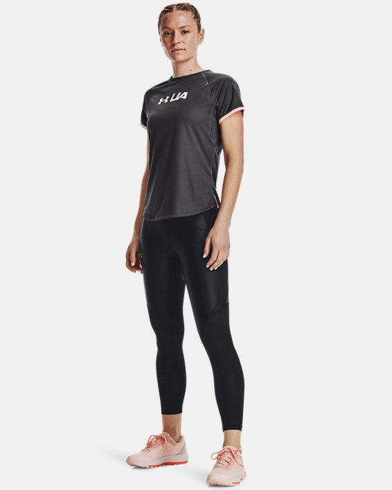 Women's UA Speed Stride Graphic Short Sleeve, Gray, pdpMainDesktop image number 0