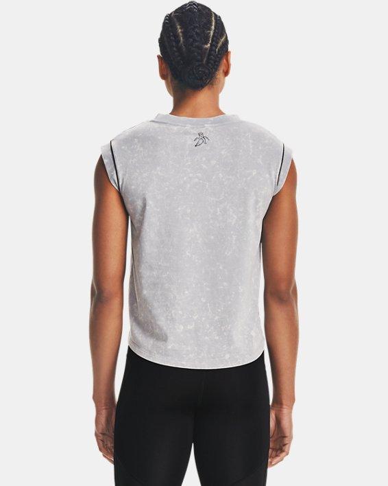 Camiseta de manga corta UA Give Pace A Chance para mujer, Gray, pdpMainDesktop image number 2