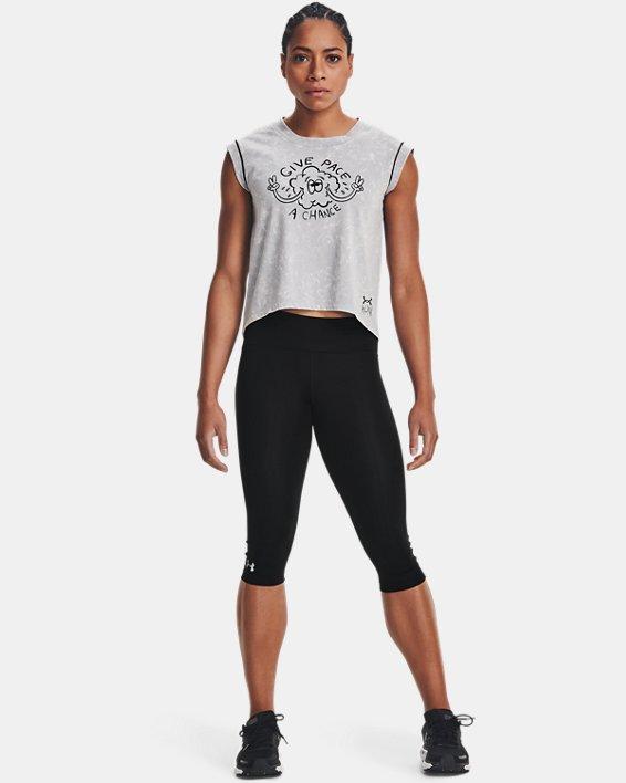 Camiseta de manga corta UA Give Pace A Chance para mujer, Gray, pdpMainDesktop image number 0
