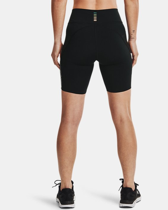 Women's UA RUSH™ Run Pocket Shorts, Black, pdpMainDesktop image number 2