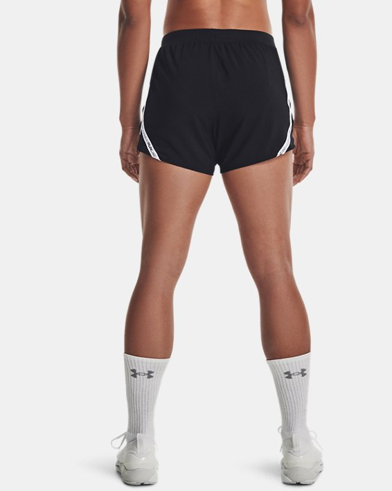 Women's UA Fly-By 2.0 Brand Shorts, Black, pdpMainDesktop image number 2
