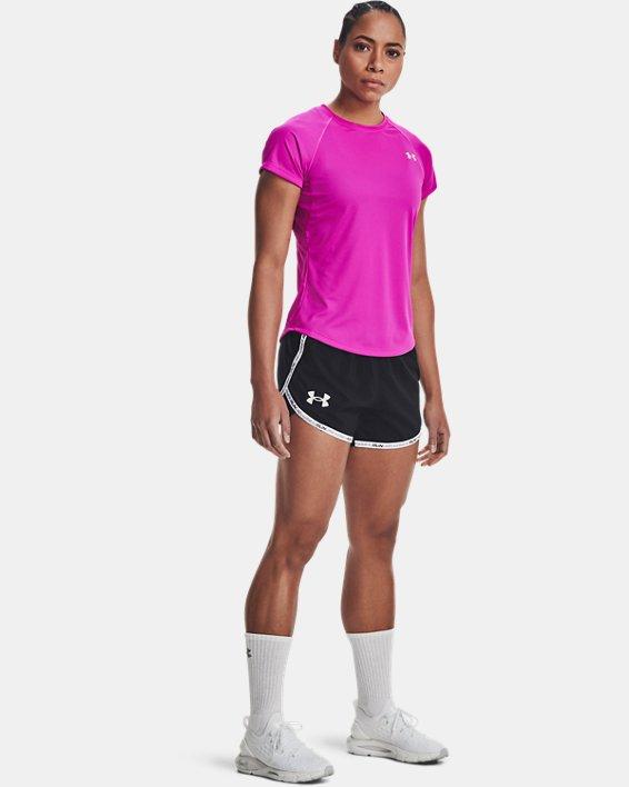 Women's UA Fly-By 2.0 Brand Shorts, Black, pdpMainDesktop image number 0