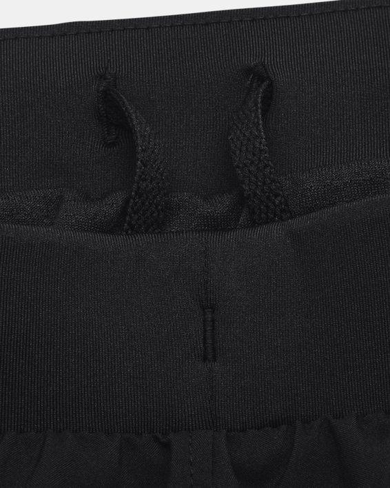 Women's UA Fly-By 2.0 Brand Shorts, Black, pdpMainDesktop image number 6
