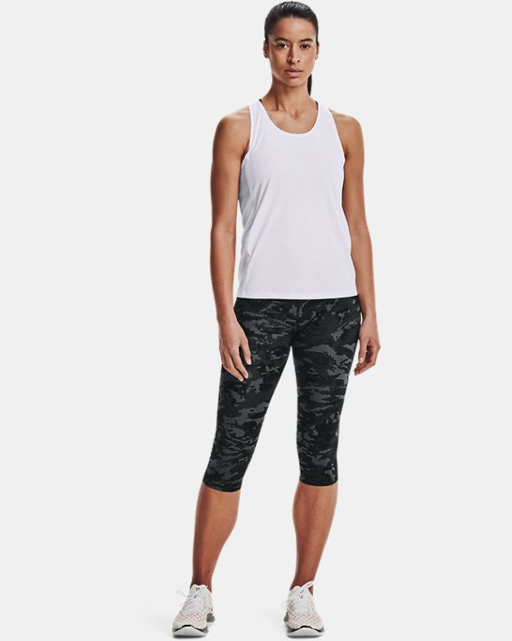 Women's UA Fly-By Tank, White, pdpMainDesktop image number 1