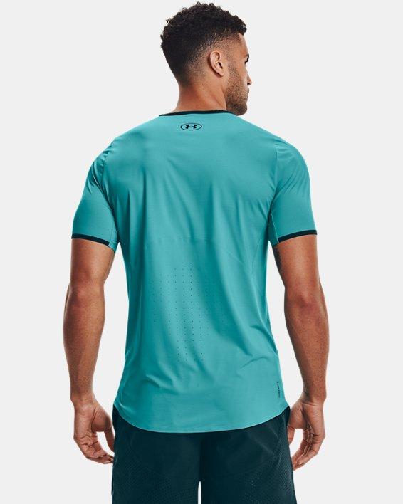 Men's UA Iso-Chill Perforated Short Sleeve, Blue, pdpMainDesktop image number 2