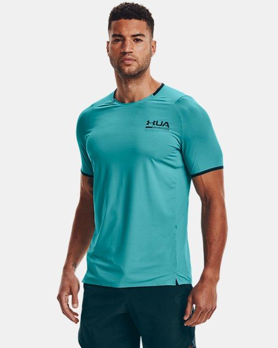 Men's UA Iso-Chill Perforated Short Sleeve, Blue, pdpMainDesktop image number 1