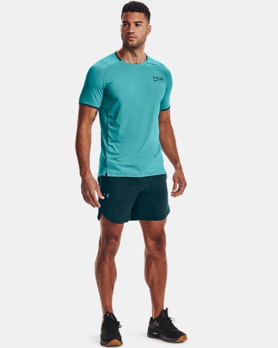 Men's UA Iso-Chill Perforated Short Sleeve, Blue, pdpMainDesktop image number 0