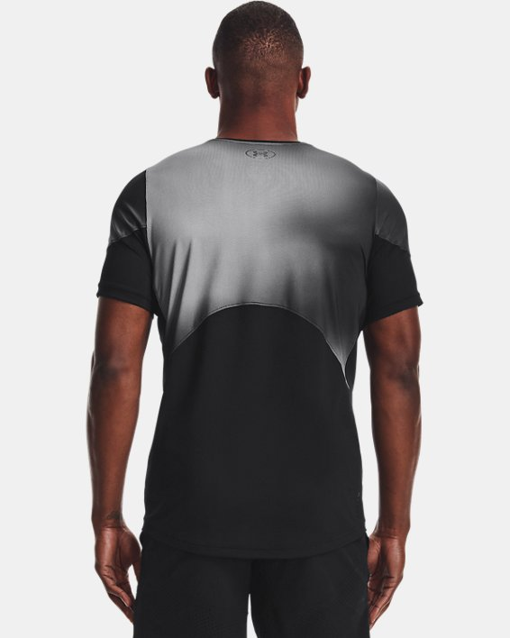 Men's UA RUSH™ HeatGear® 2.0 Print Short Sleeve, Black, pdpMainDesktop image number 2