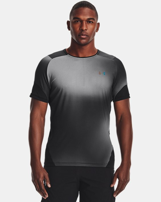 Men's UA RUSH™ HeatGear® 2.0 Print Short Sleeve, Black, pdpMainDesktop image number 1