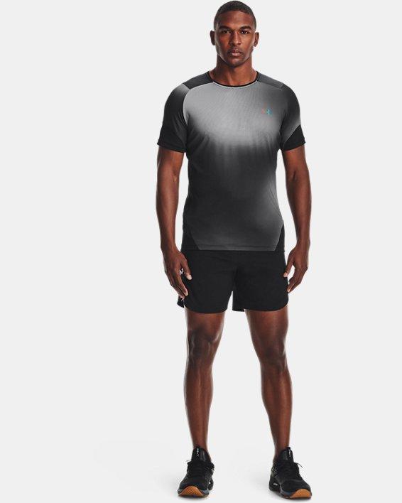 Men's UA RUSH™ HeatGear® 2.0 Print Short Sleeve, Black, pdpMainDesktop image number 0