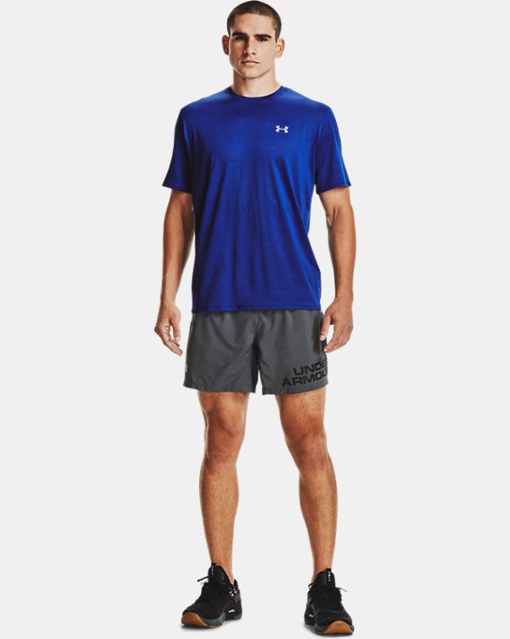 Men's UA Training Vent 2.0 Short Sleeve, Blue, pdpMainDesktop image number 2
