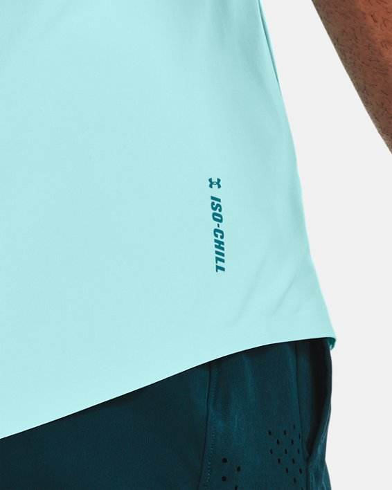 Men's UA Iso-Chill Perforated Sleeveless, Blue, pdpMainDesktop image number 3