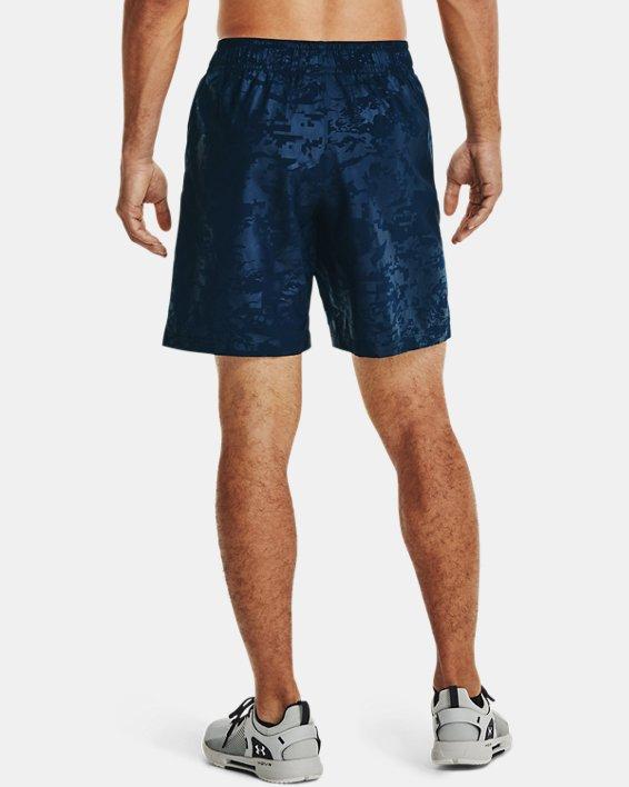 Men's UA Woven Emboss Shorts, Navy, pdpMainDesktop image number 2