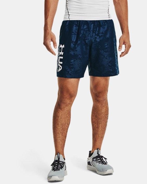 Men's UA Woven Emboss Shorts, Navy, pdpMainDesktop image number 1