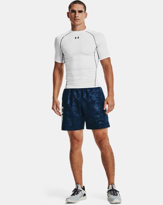 Men's UA Woven Emboss Shorts, Navy, pdpMainDesktop image number 0