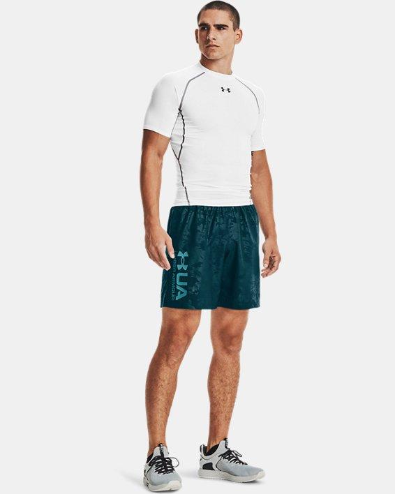 Men's UA Woven Emboss Shorts, Blue, pdpMainDesktop image number 0