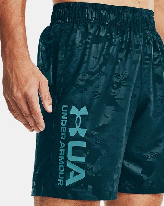 Men's UA Woven Emboss Shorts, Blue, pdpMainDesktop image number 3