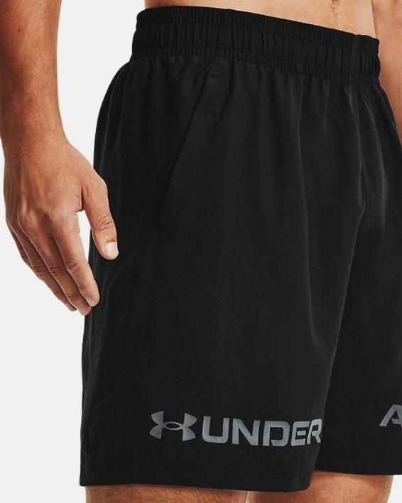 Men's UA Woven Graphic Wordmark Shorts, Black, pdpMainDesktop image number 3