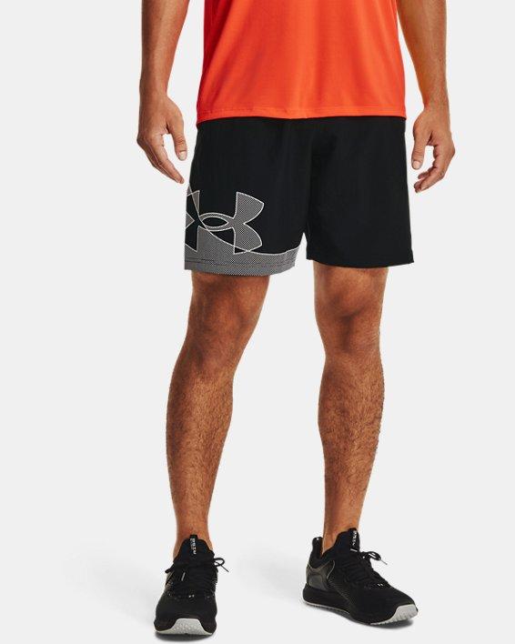 Men's UA Woven Graphic Shorts, Black, pdpMainDesktop image number 1
