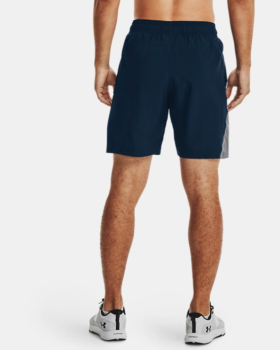 Men's UA Woven Graphic Shorts, Navy, pdpMainDesktop image number 2