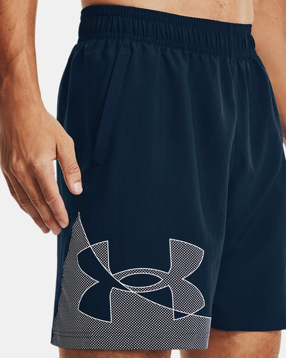 Men's UA Woven Graphic Shorts, Navy, pdpMainDesktop image number 3