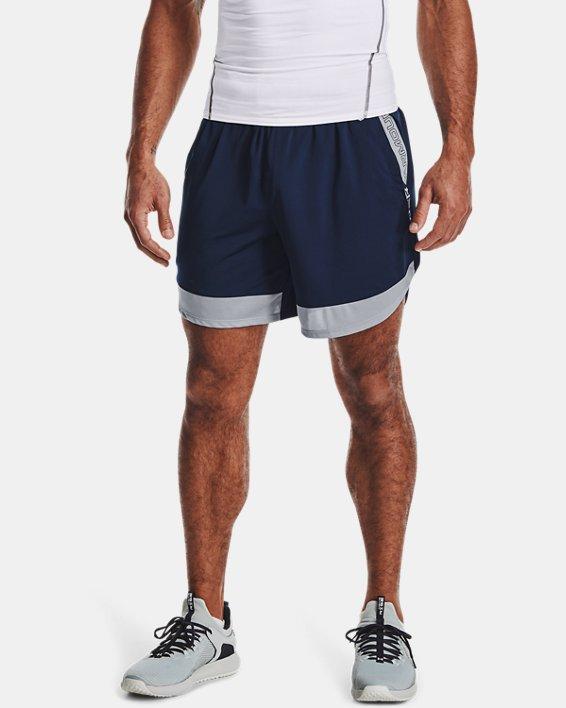 "Men's UA Train Stretch 7"" Wordmark Shorts, Navy, pdpMainDesktop image number 1"