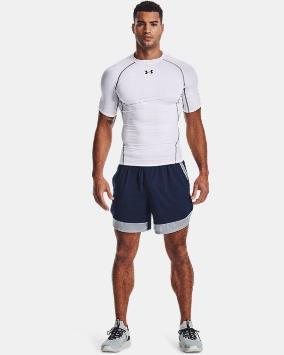 "Men's UA Train Stretch 7"" Wordmark Shorts, Navy, pdpMainDesktop image number 0"