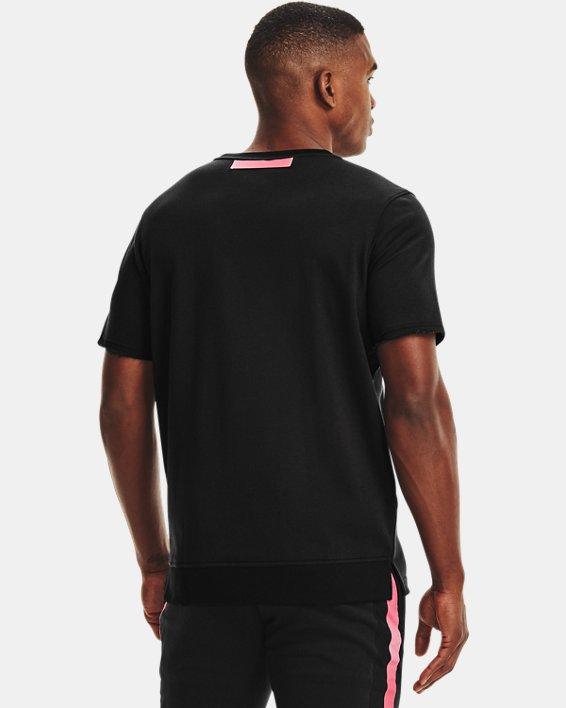 Men's UA Rival Terry AMP Short Sleeve Crew, Black, pdpMainDesktop image number 2
