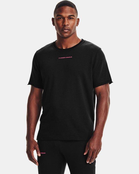 Men's UA Rival Terry AMP Short Sleeve Crew, Black, pdpMainDesktop image number 1