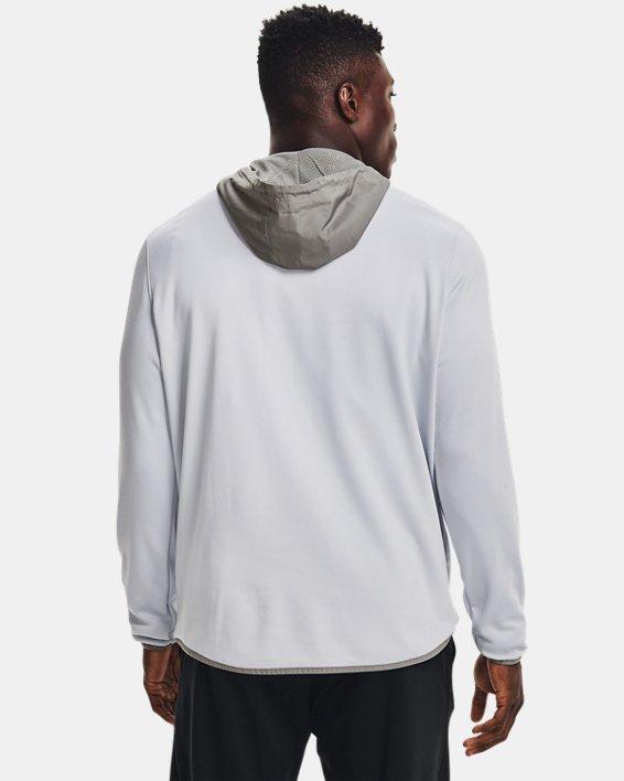 Herren Armour Fleece® Storm Hoodie mit ½ Zip, Gray, pdpMainDesktop image number 1
