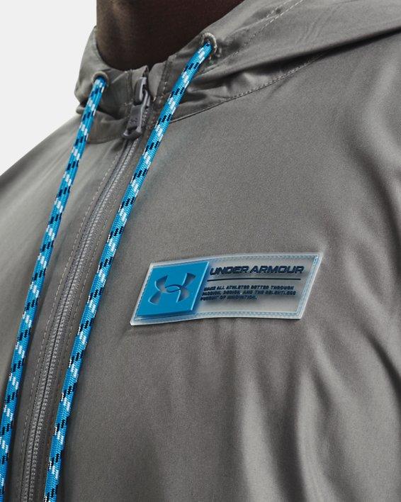 Herren Armour Fleece® Storm Hoodie mit ½ Zip, Gray, pdpMainDesktop image number 3
