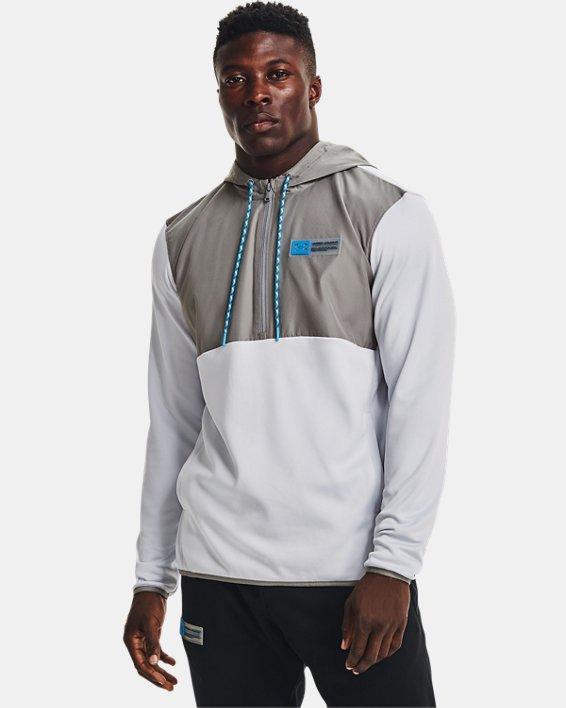 Herren Armour Fleece® Storm Hoodie mit ½ Zip, Gray, pdpMainDesktop image number 0