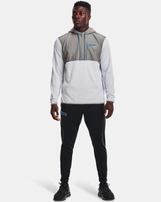 Herren Armour Fleece® Storm Hoodie mit ½ Zip, Gray, pdpMainDesktop image number 2