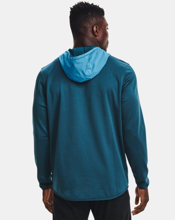 Men's Armour Fleece® Storm ½ Zip Hoodie, Blue, pdpMainDesktop image number 1