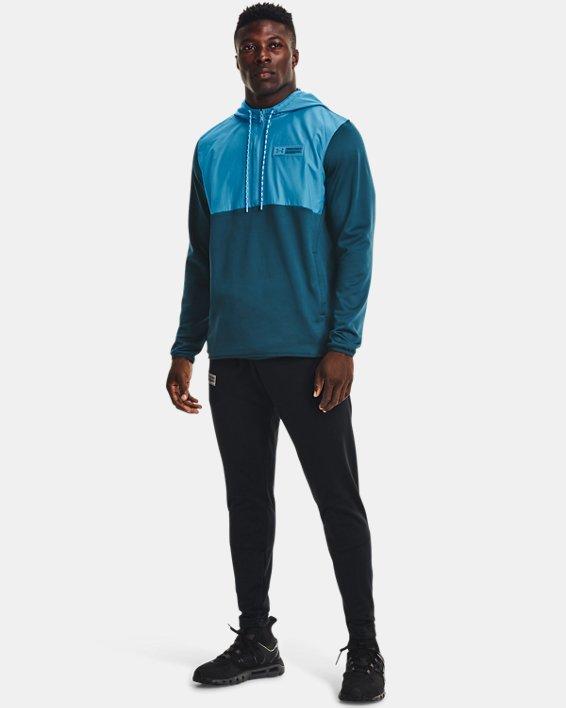 Men's Armour Fleece® Storm ½ Zip Hoodie, Blue, pdpMainDesktop image number 2