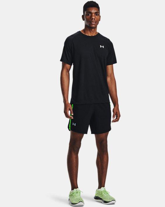 Men's UA Streaker Run Short Sleeve, Black, pdpMainDesktop image number 2