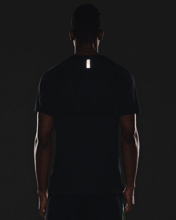 Men's UA Streaker Run Short Sleeve, Black, pdpMainDesktop image number 3